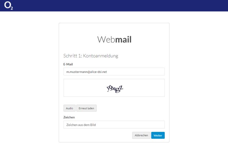Alice E-Mail-Passwort vergessen