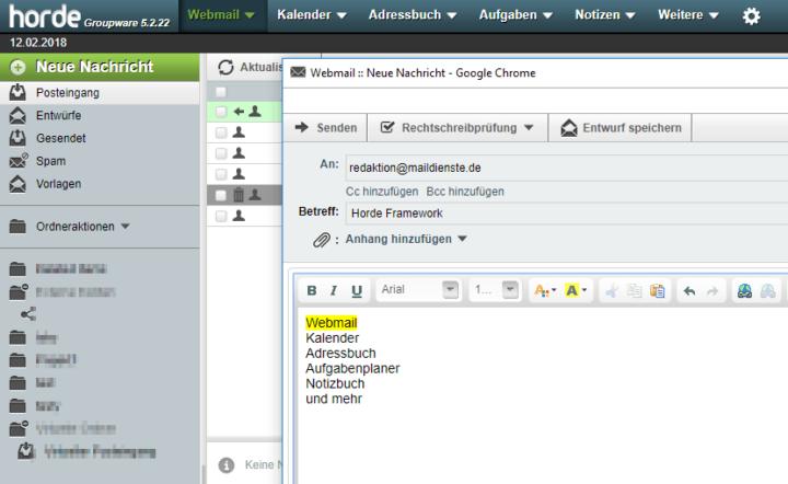 Horde Webmailer