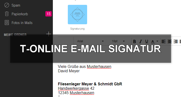 t-online E-Mail Signatur