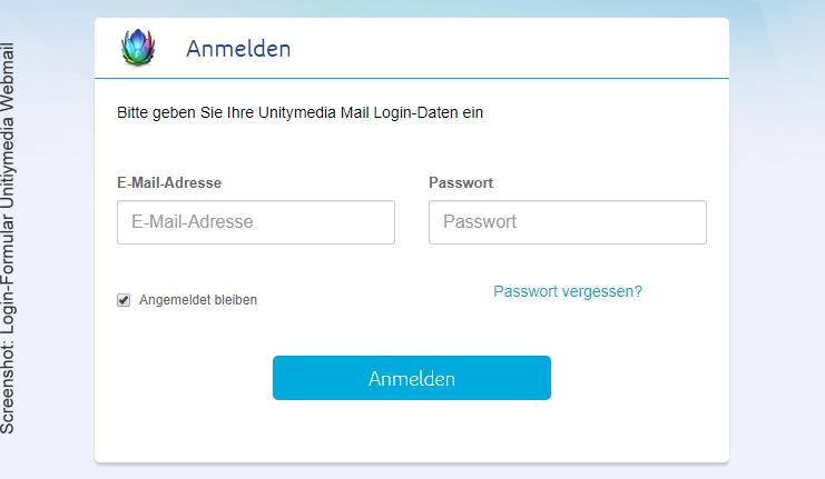 Unitybox / Unitymail Login Formular